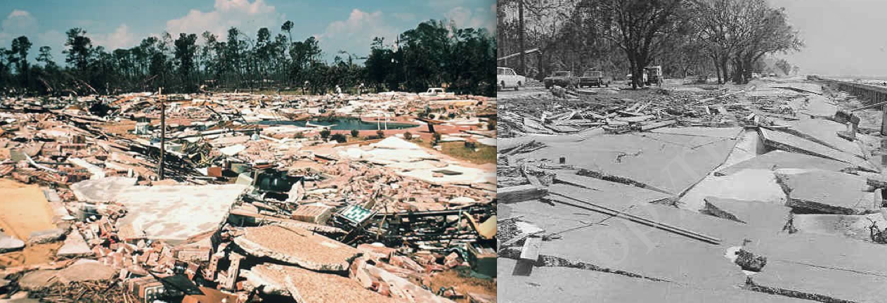 Two additional views of damage in Pass Christian, where Hurricane ...