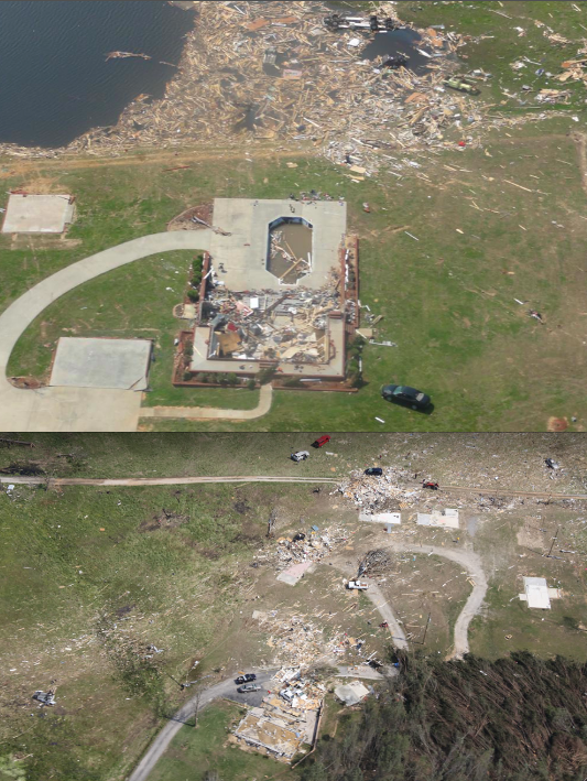 Ef5 Tornado Damage Before And After Phil Campbell H...