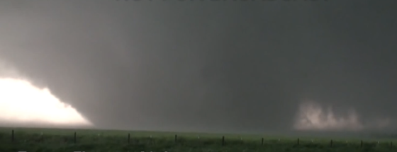 The El Reno tornado was being followed by dozens of videographers when it rapidly intensified and expanded, catching many people off guard. (Video by Jim Bishop)