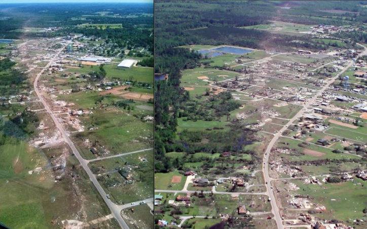 Ef5 Tornado Damage Before And After Tornado Outbrea...
