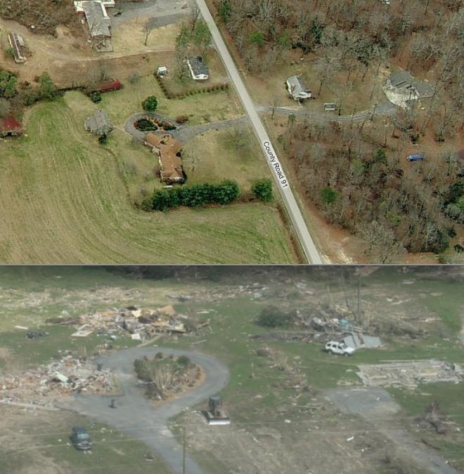 Ef5 Tornado Damage Before And After Rainsville EF5 ...