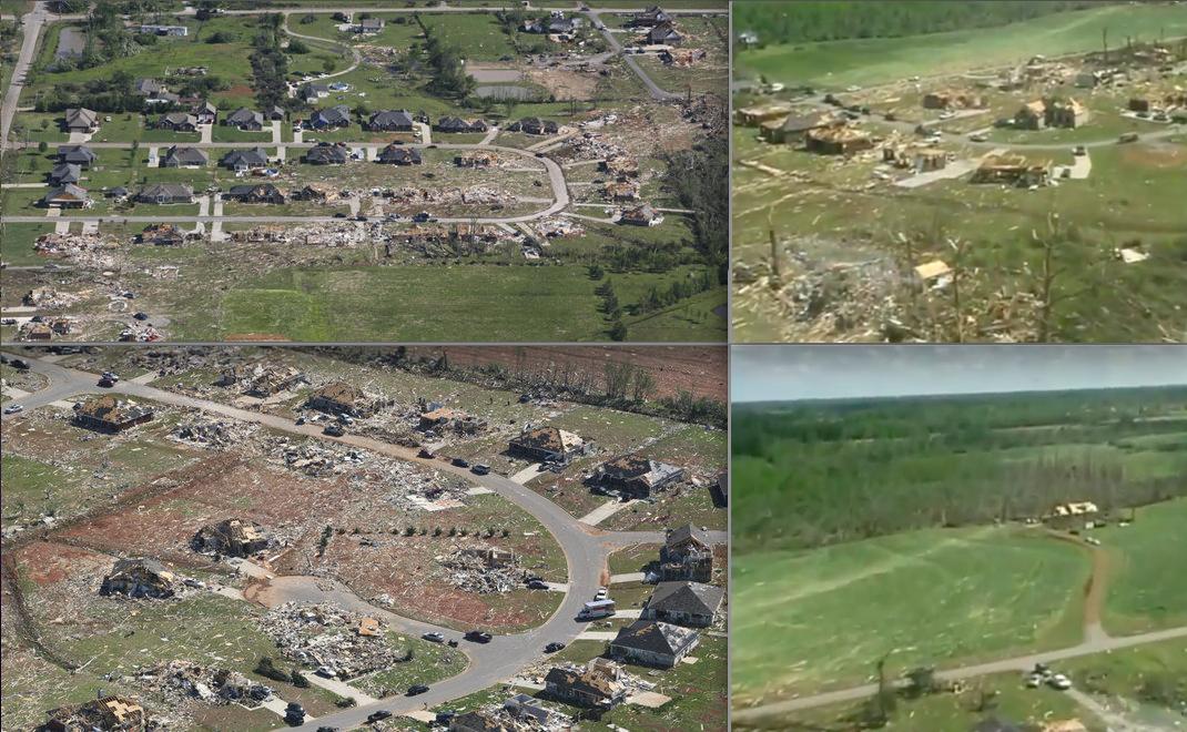 EF5 Tornado Damage Tanner Alabama