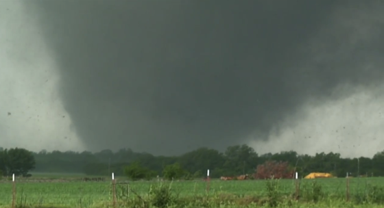 View of the 2013 Moore tornado near the time at which it reached EF5 intensity near Drexel Avenue. (Video by Curtis McDonald and Charles Lubensky)