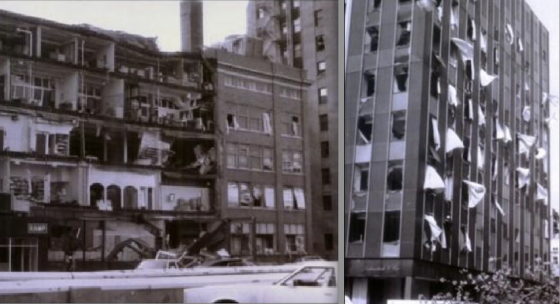 View of damage in downtown Kalamazoo following a tornado on May 13th, 1980. (Images by S. Zomer)