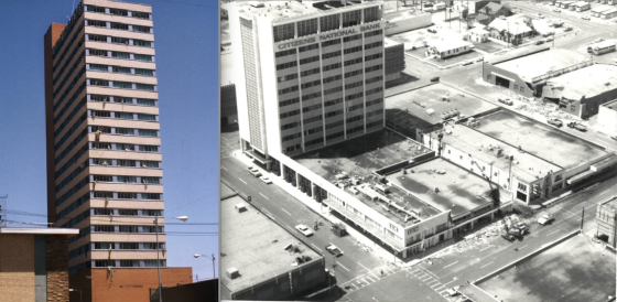 Despite reports to the contrary, the Great Plains Life Building in downtown Lubbock was well outside the F4/F5 damage zones. Window and roof damage to the building was likely the result winds in the F1 range. Following the tornado, the building was deemed