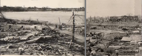 Views of damage in Tupelo.