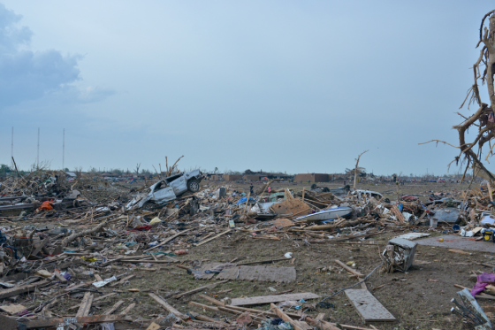 Extreme damage following the 2013 Moore tornado. (Image by 1984 Studios)