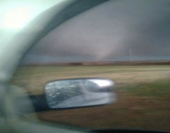 Storm chaser Richard Henderson sent this photograph to a friend several minutes before he was killed. Henderson was on the phone with the same friend