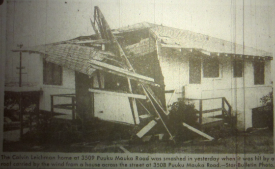 Hurricane Nina was the first storm in modern history to bring hurricane force wind gusts to the Hawaiian Islands.