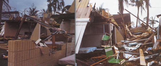 Hundreds of homes on Kauai and Oahu were completely destroyed by Iwa's fierce winds.