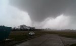 The Grundy County tornado's appearance was consistent with tornadoes under EF3 intensity. Some violent tornadoes, however, have looked similar while at peak intensity. (Still by TheVdp2012)