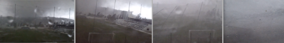 Gui Teixeira captured incredible video of a rare tornado sweeping through a coastal area in southern Portugal. (Video by Gui Teixeira)