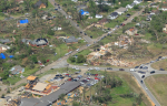 View of the playground and the EF3 damage streak nearby. (DJournal)